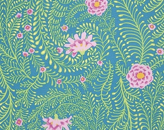 Kaffe Fassett Collective - Ferns - Turquoise - PWGP147 - FQ Fat Quarter BTHY Yard - 100% Cotton Quilt Fabric 1021