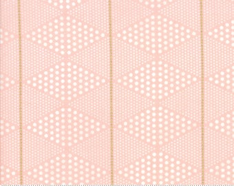 SALE Day in Paris by Zen Chic for Moda - Metallic - Diamonds - Bubble Gum - Pink - 100% Cotton Quilt Fabric - BTHY Yard K