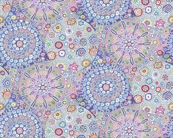 "Millefiore Pastel Wide Back - Kaffe Fassett Free Spirit Fabrics - GP006 - 1/2 Yard - 108"" Cotton Quilt Back Fabric Silky Finish 8-21"