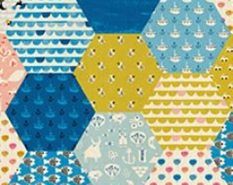 SALE Hexie Spectacle by Christian Robinson for Cotton & Steel - Spectacle - Multi - 1/2 Yard Cotton Quilt Fabric