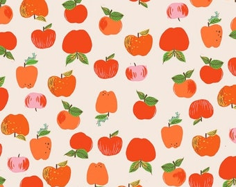 Heather Ross 20th Anniversary Reprint for Windham Fabrics - 434832A-2 Red Apples from Kinder - Cotton Quilt Fabric FQ BTHY Yard 921