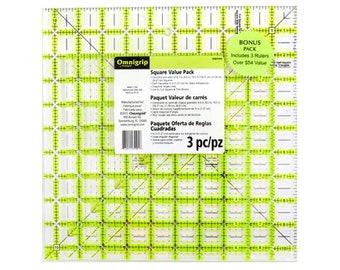 Square Omnigrip Ruler Combo Pack - RN65105S Omnigrid