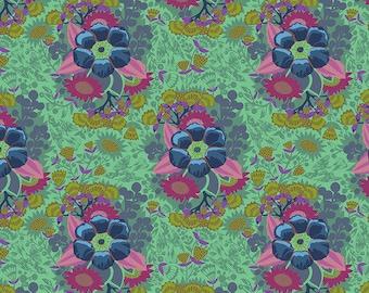 Hindsight by Anna Maria Horner for Free Spirit Fabrics - Piecework - Sea - FQ BTHY Yard - Cotton Quilt Fabric 9-21