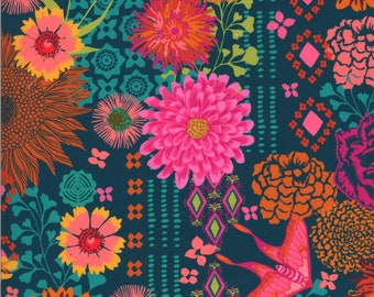 Kasada by Crystal Manning for Moda - Bazaar - Teal - 11860 13 - Select a Size - Cotton Quilt Fabric K