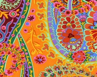 Kaffe Fassett - Paisley Jungle - GP60 Tangerine Orange - FQ BTHY Yard cotton quilt fabric 1021