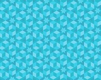 SALE Diving Board by Alison Glass for Andover Fabrics - Starfish - Sea Glass - A-8638-T - Cotton Quilt Fabric - BTHY