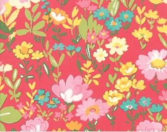 Regent Street Lawn 2018 by Moda - English Garden - Dark Pink - Cotton Quilt Fabric 2020