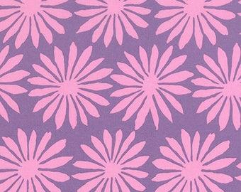 Artisan by Kaffe Fassett Free Spirit - KF006 Gerbera - Lilac - Cotton Quilt Fabric - FQ Fat Quarter BTHY Yard 1021