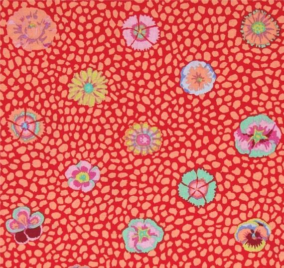 Kaffe Fassett Guinea Flower Purple Cotton Quilting Dress Fabric