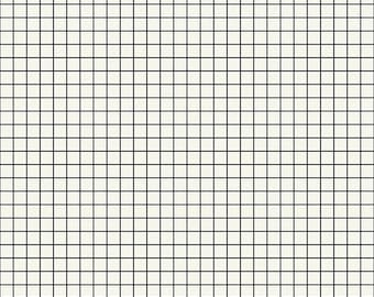Grid by Kimberly Kight of Ruby Star Society for Moda - Grid - Crossword - Black - Select a Size - Cotton Quilt Fabric