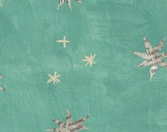 Wonder by Carrie Bloomston for Windham Fabrics - Stars - Aqua - 50517-3 - Cotton Quilt Fabric - Choose your Size 8-21B