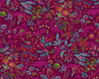 Florapolis - MagiCountry by Odile Bailloeul for Free Spirit - Pink PWOB048 - FQ Fat Quarter BTHY Yard - Cotton Quilt Fabric 1021