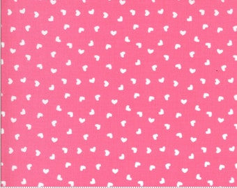 Be Mine by Stacy Iest Hsu for Moda - Sweetness - Sweetheart - Pink - 20717 13 - 100% Cotton Quilt Fabric - Choose your Size K