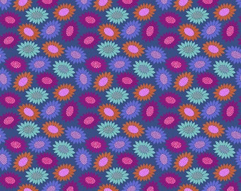 Bright Eyes by Anna Maria Horner for Free Spirit - Picky - Blue - FQ BTHY Yard - Cotton Quilt Fabric 9-21