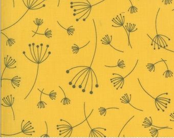 SALE Quotation by Zen Chic - Floral Mustard 1730 18 Select a Size - FQ, half or full yard- Moda Cotton Quilt Fabric K