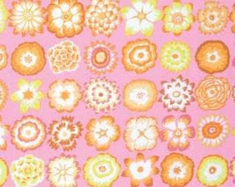 Kaffe Fassett GP152 - Button Flowers - Pink - FQ Fat Quarter BTHY Yard Cotton Quilt Fabric 1021