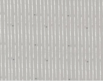 Broken Star Stripe - Little Ducklings by Paper And Cloth for Moda Fabrics - Warm Grey 25108 14 - BTHY Yard - Cotton Quilt Fabric