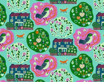 Homeward Monika Forsberg Anna Maria's Conservatory Free Spirit - My Block Seafoam MF018 - Cotton Quilt Fabric - FQ BTHY Yard 9-21