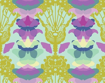 Hindsight by Anna Maria Horner for Free Spirit Fabrics - Ghost Nouveau - Sky - FQ BTHY Yard - Cotton Quilt Fabric 9-21
