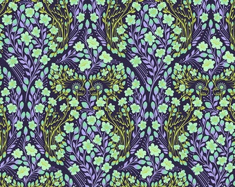 Monkey Wrench by Tula Pink for Free Spirit - Parrot Prattle - Dragon Fruit - Cotton Quilt Fabric - Choose Your Size 8-21B