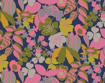 SALE Solstice by Sally Kelly - Camellia  - 51931 6 - Select a Size- FQ - half or full yard- Windham Cotton Quilt Fabric K