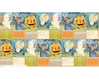 "Spirit of Halloween by Cori Dantini for Free Spirit - Hallowed Joy Panel - CD002 100% Cotton Quilt Fabric - 24""x44"""