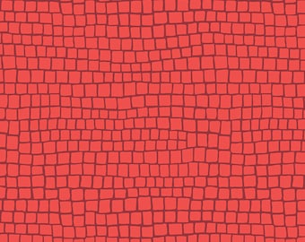 Earth Made Paradise by Kathy Doughty Free Spirit Fabrics - Brick Coral MO055.CORAL- Cotton Quilt Fabric - Fat Quarter FQ BTHY Yard K