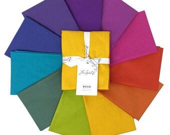Tula Pink Solids - Dragon Fat Quarter Bundle by Free Spirit Fabrics - 100% Cotton Quilt Fabric