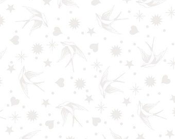 Linework by Tula Pink - Fairy Flakes - Paper White - Select a Size - Cotton Quilt Fabric 8-21+B