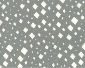 SALE Savannah by Gingiber for Moda - Diamonds - Pewter Grey - 1/2 Yard Cotton Quilt Fabric 817