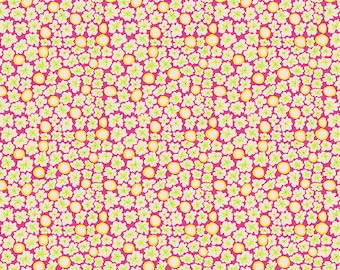 Kaffe Fassett Collective Spring 2019 Brandon Mably Free Spirit - BM071 Primulas - Pink - Cotton Quilt Fabric - 1/2 Yard 1021