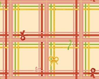 Sugarplum by Heather Ross for Windham Fabrics - Plaid - Cream - 50168-2 - 1/2 Yard Cotton Quilt Fabric 921