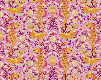 Zuma by Tula Pink for Free Spirit - Sea Stallion - Glowfish - 1/2 Yard Cotton Quilt Fabric 8-21
