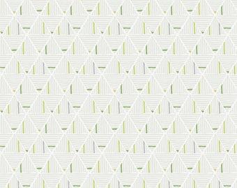 Mod Cloth by Sew Kind of Wonderful  - Sand Castle Wind SK018.WIND - Cotton Quilt Fabric - Fat Quarter fq BTHY Yard