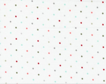 Magic Dot - Christmas Morning by Lella Boutique for Moda Fabric - Multicolored - 5147 11 - BTHY Yard - Cotton Quilt Fabric