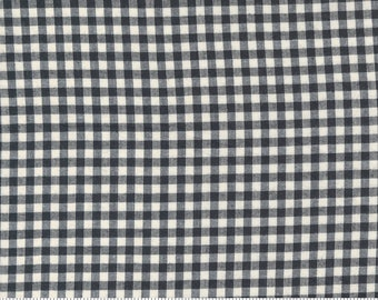 Low Volume Check Charcoal Grey Woven 18201 24 by Jen Kingwell for Moda - FQ Fat Quarter BTHY Yard - Cotton Quilt Fabric