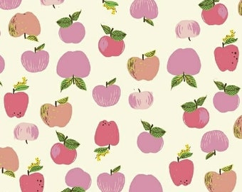 OOP Pre-Cut Kinder by Heather Ross for Windham Fabrics - Apples - Pink - 1/4 Yard Cotton Quilt Fabric 921