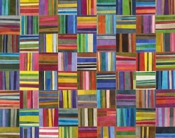 Curiosity by Marcia Derse for Windham Fabrics - Rainbow Stripes - 51957D-X - 100% Cotton Quilt Fabric - FQ BTHY Yard 8-21