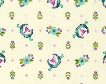 Slow & Steady by Tula Pink for Free Spirit - Winner's Circle - Blue Raspberry - 1/2 Yard Cotton Quilt Fabric 8-21+B