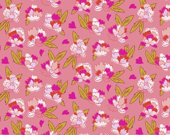 Flower Market by Courtney Cerruti - Anna Maria's Conservatory by Free Spirit - Tearose - Morning - BTHY Yard - Cotton Quilt Fabric 9-21