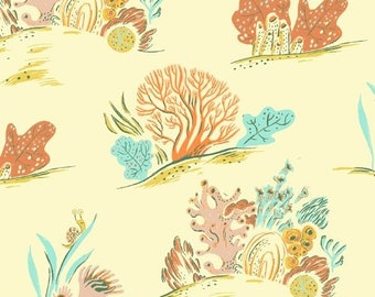 Malibu by Heather Ross for Windham - Coral - Coral - 52147-9 - Cotton Quilt Fabric - FQ BTHY Yard 921