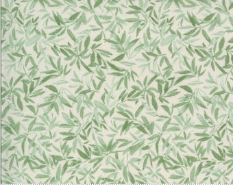 SALE Lulu by Chez Moi for Moda - Leaves - Linen - Natural - 33582 25 - 100% Cotton Quilt Fabric - Choose your Size K