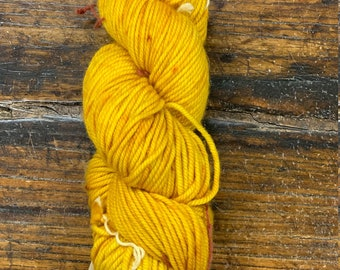 Brass Golden Yellow 403 Tosh Chunky by Mad Tosh Yarns Madelinetosh  - Skein of Hand-Dyed Chunky Weight 100% Merino Wool