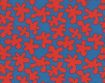 SALE Artisan by Kaffe Fassett for Free Spirit - Squiggle - Red - FQ - Fat Quarter Cotton Quilt Fabric K