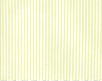 Sugarcreek Silky by Corey Yoder for Moda - Pistachio and white Woven stripe - 100% Cotton Quilt Fabric 12230 23