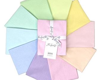 Tula Pink Solids - Unicorn Fat Quarter Bundle by Free Spirit Fabrics - 100% Cotton Quilt Fabric