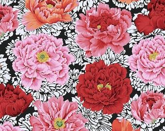 Kaffe Fassett Collective - Philip Jacobs - Brocade Peony - Crimson - PWPJ062 - FQ Fat Quarter BTHY Yard -100% Cotton Quilt Fabric 1021