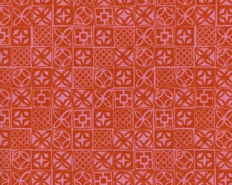 Poolside by Alexia Abegg and Melody Miller for Cotton & Steel - Architectural Blocks - Pink - 1/2 Yard Cotton Quilt Fabric