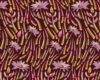 Tula Pink Acacia - Sunset Pomegranite Quills - FQ Fat Quarter cotton quilt fabric 8-21