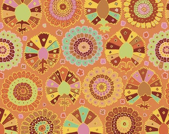 Kaffe Fassett Collective Spring 2019 by Brandon Mably for Free Spirit - Turkish Delight - Gold - Cotton Quilt Fabric - Choose your Size K